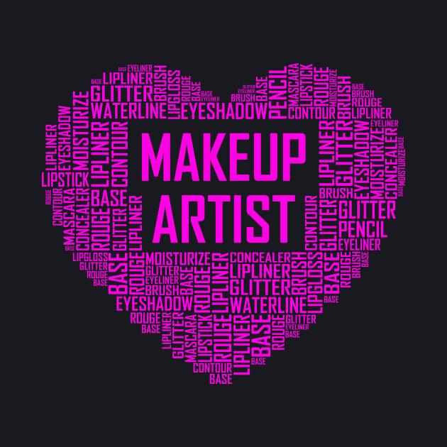 Makeup Artist Pink Heart