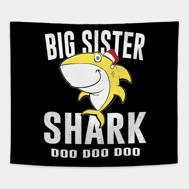 Big Sister Shark Tshirt Birthday Thanksgiving Christmas Gift