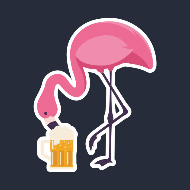 ... Beer Flamingo Shirt Craft Beer Brewing Drink Drinking Party Gift