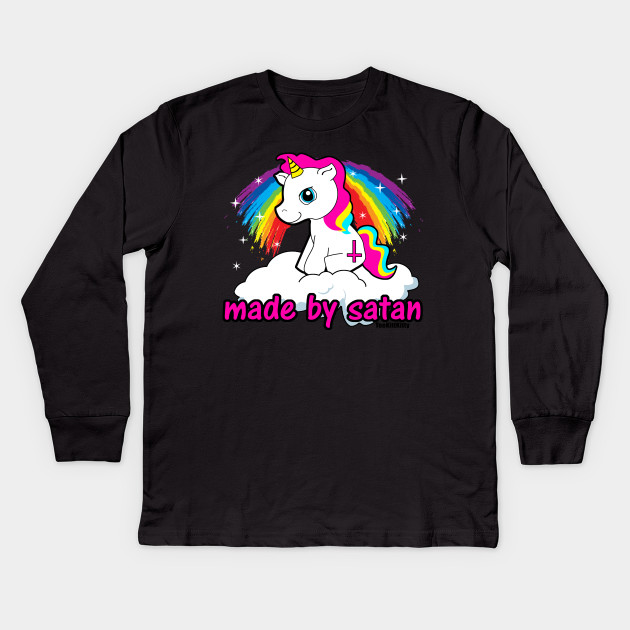 a00ea3dcd Made By Satan Shirt - - Offensive Tshirts, Satanic Shirts, Funny Atheist  Shirt Kids Long Sleeve T-Shirt