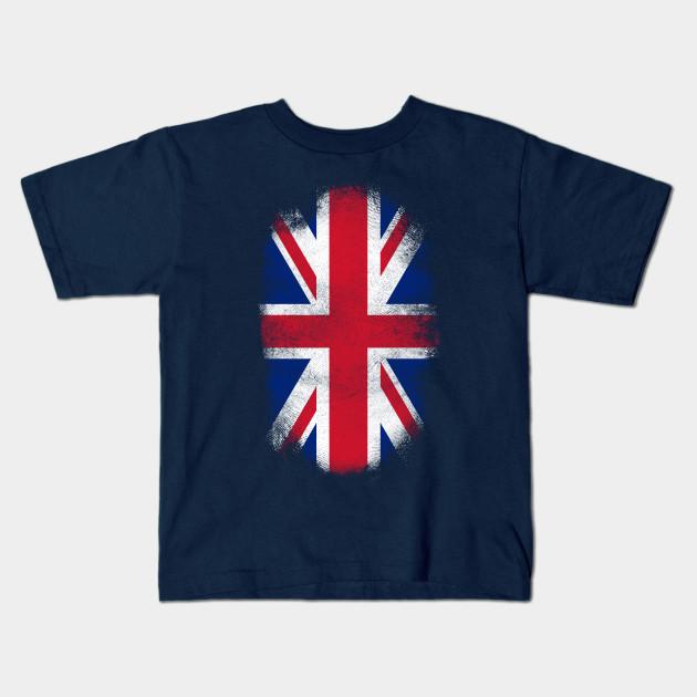 c363f8c3d16 Britain Flag Souvenir - Distressed British Design Kids T-Shirt