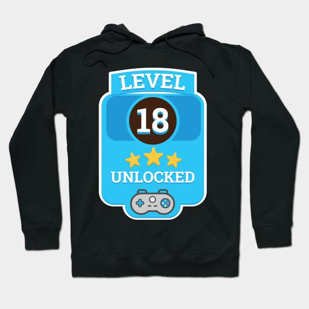 Level 18 Unlocked Tshirt 18th Video Gamer Birthday Boy Gifts