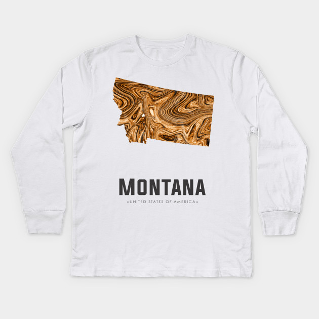 Montana state map abstract golden brown