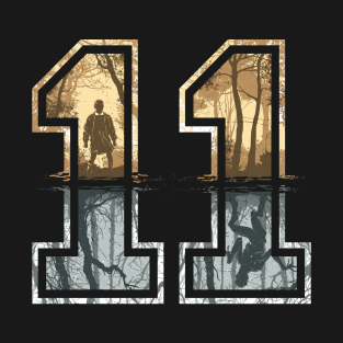 Strange Number 11 (gold-silver) t-shirts