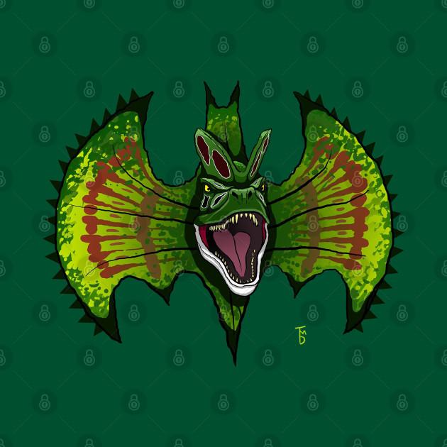 Spitting dinosaur bat symbol