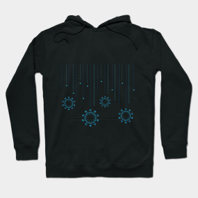 Let it Snow Hoodie, Snowflake Sweatshirt