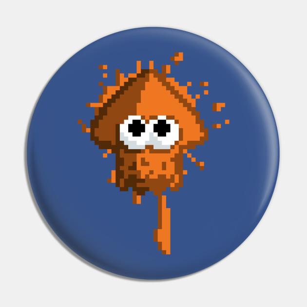 Pixel Squid Orange
