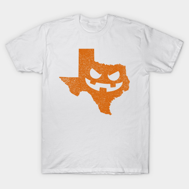 Texas Home State Pumpkin Halloween T-Shirt-TOZ