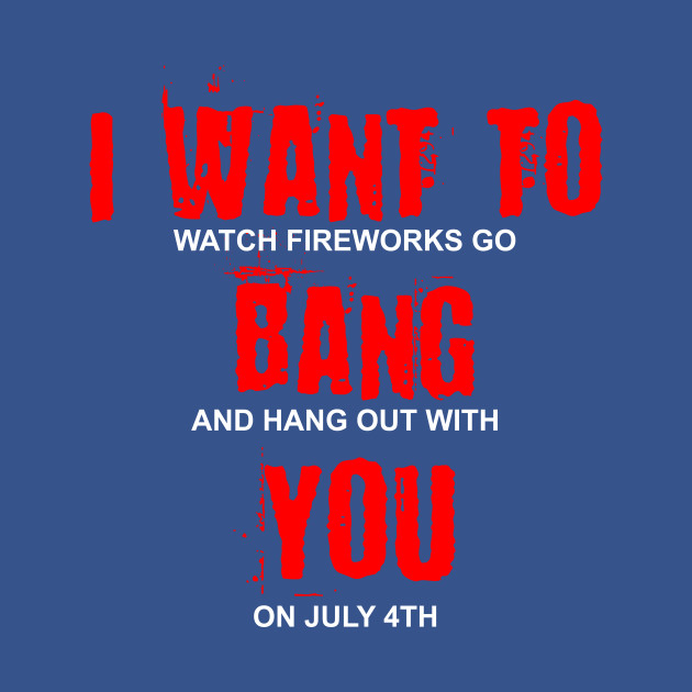 3e4a06a3e I Want To Watch Fireworks Bang And Hang Out With You Funny - 4th Of ...