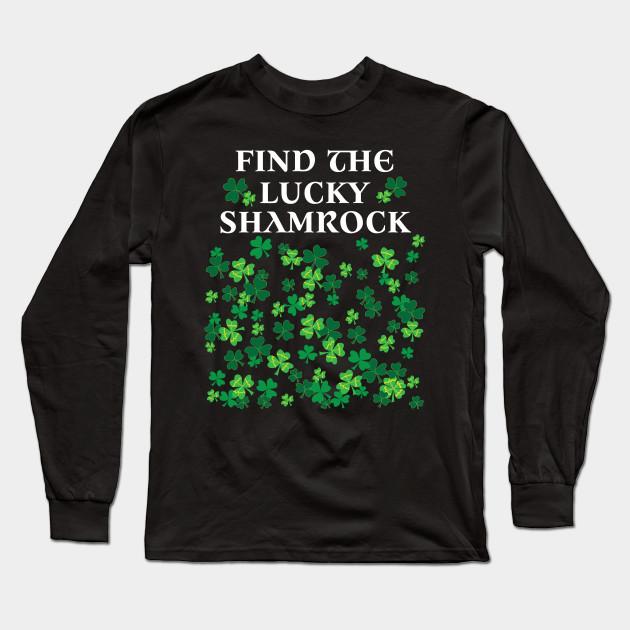 c3173b08e7 Funny game st Patrick's day shirt lucky shamrock t-shirt Long Sleeve T-Shirt