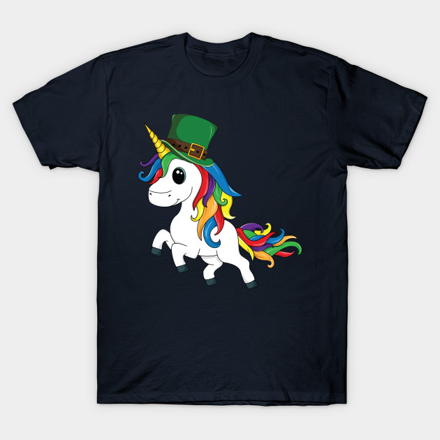 Lepricorn T-Shirt St Patricks Day Leprechaun Unicorn Kids T-Shirt