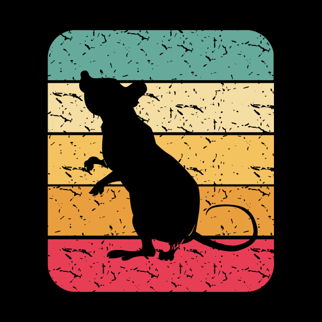 Retro Mouse Rat Silhouette