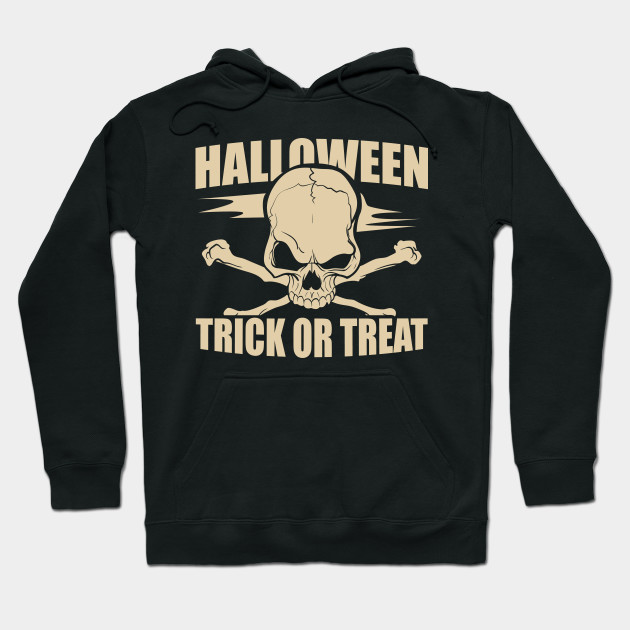 Halloween Skull Trick or Treat Halloween Night Hoodie