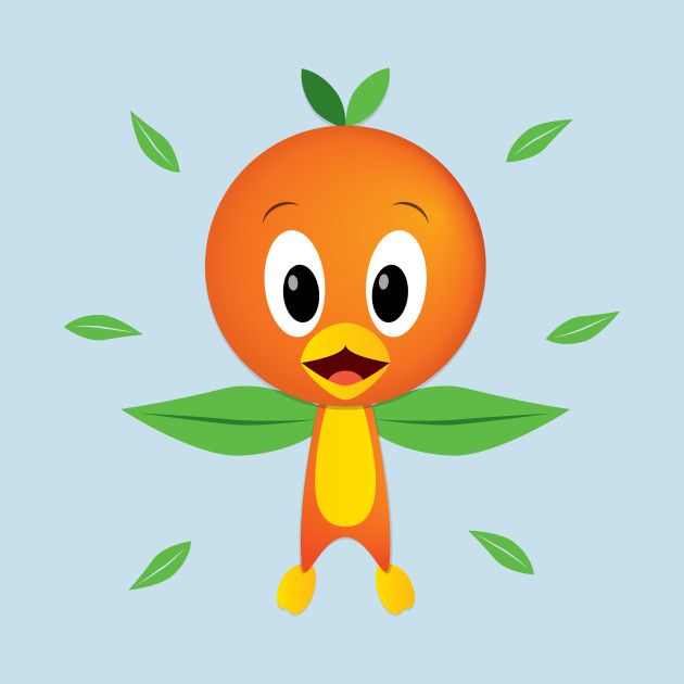 Bird with Orange Head
