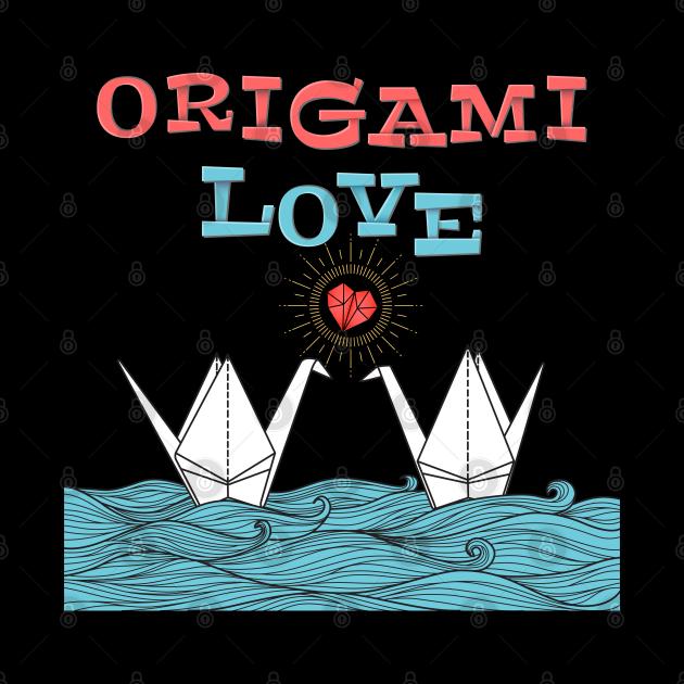 Cute origami cranes - origami love