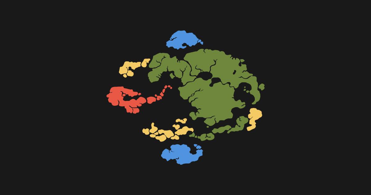 Avatar Map Color Avatar T Shirt Teepublic