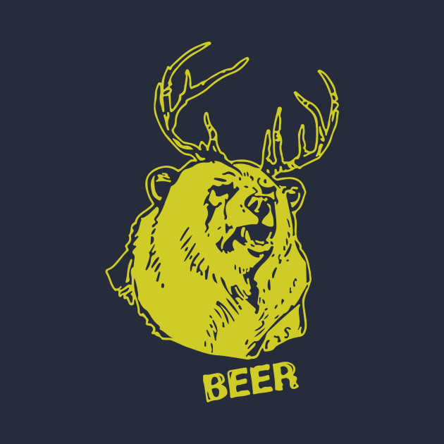 6c579462a Bear Plus Deer - Funnytee - T-Shirt | TeePublic
