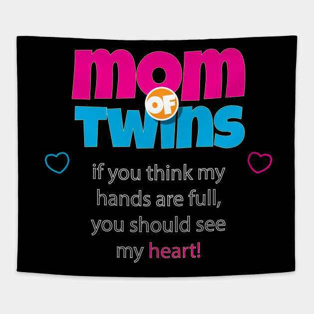 Mom Of Twins Tapestry
