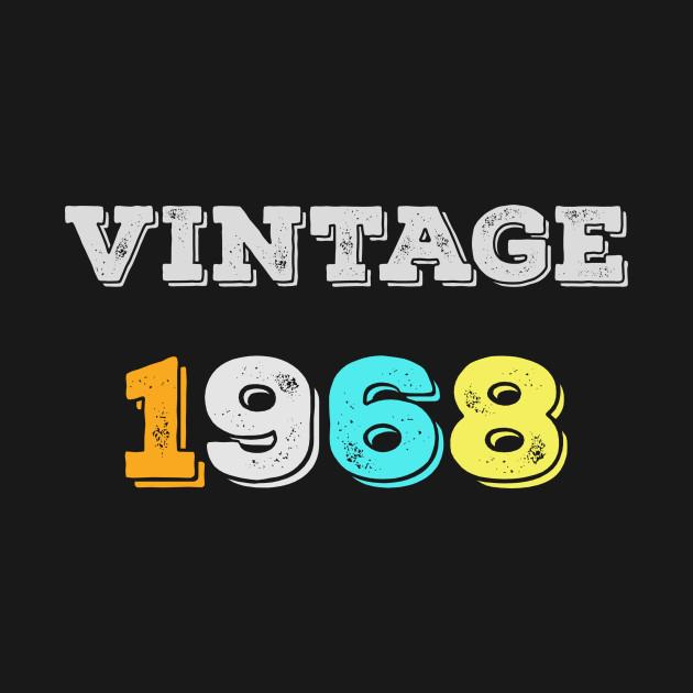 Vintage 1968 T Shirt Retro 50th Birthday Tee