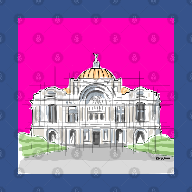 Mexico's Bellas Artes Palace architecture