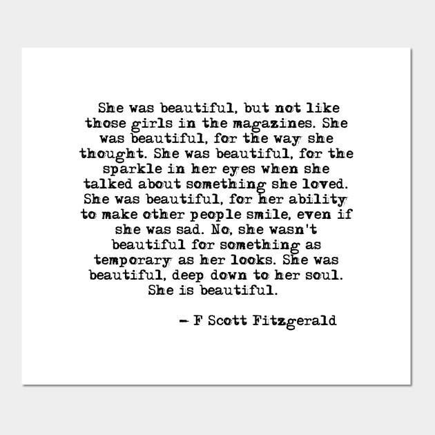 She was beautiful - Fitzgerald quote