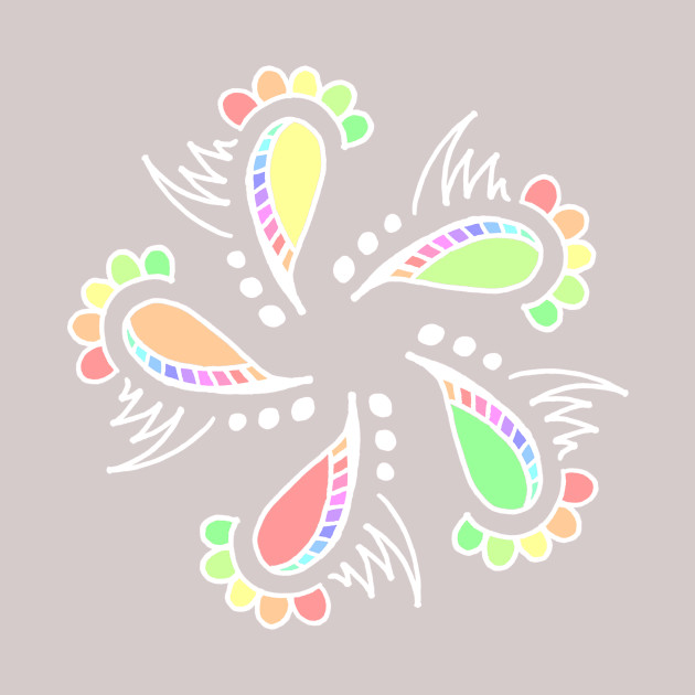 Whimsical Floral Abstract Design