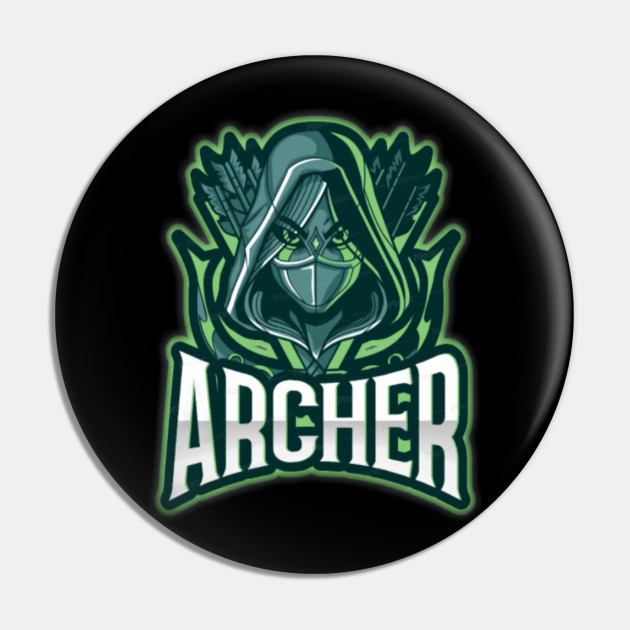 Archery Green Pin Badge