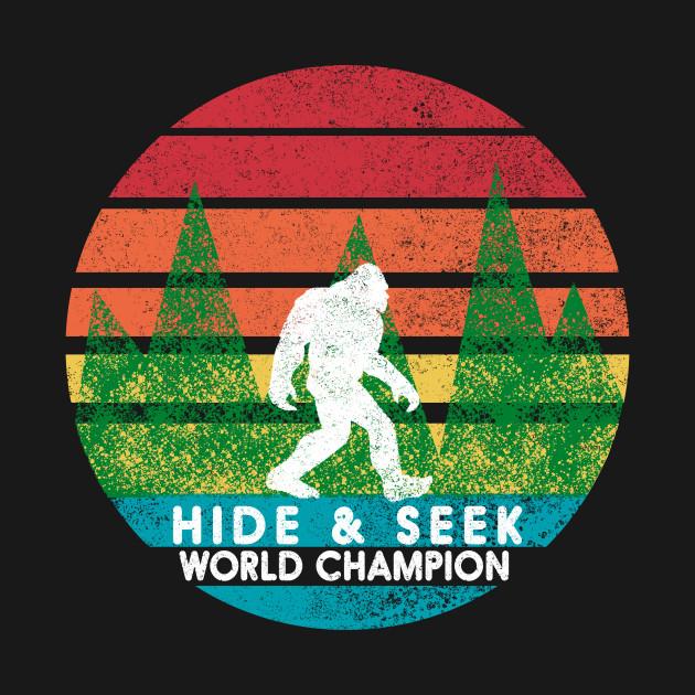 91c3f9387b43 Vintage Retro Hide and Seek Champion Camping Bigfoot Tshirt - Hide ...