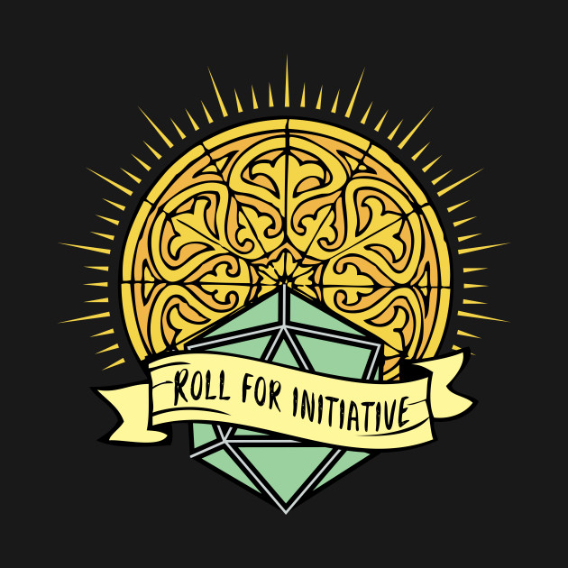 RPG Roll For Initiative Holy Dice Design