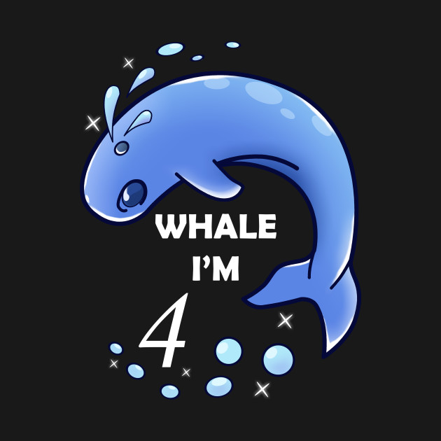 Whale Im 4 Years Old Birthday