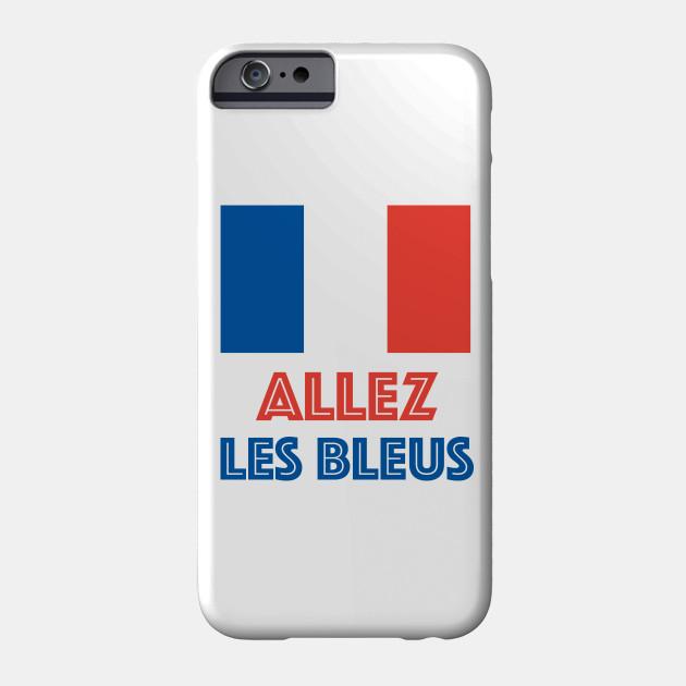 Allez Les Bleus French Sports Fan French Soccer Phone Case