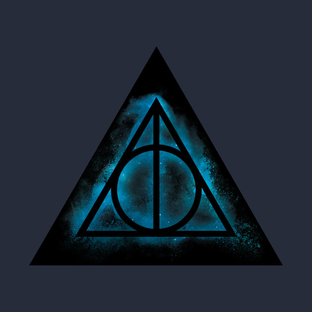 Harry Potter Deathly Hallows Galaxy Sand Explosion Triangle Green