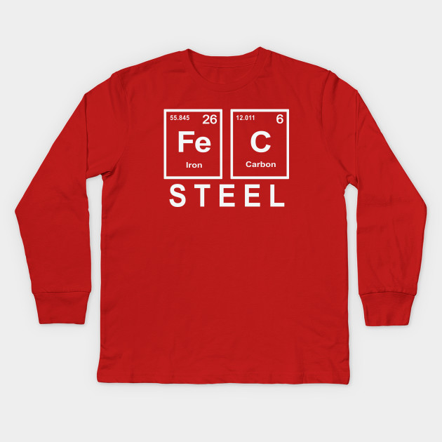 Steel Formula Element Periodic Table Iron And Carbon T Shirt With