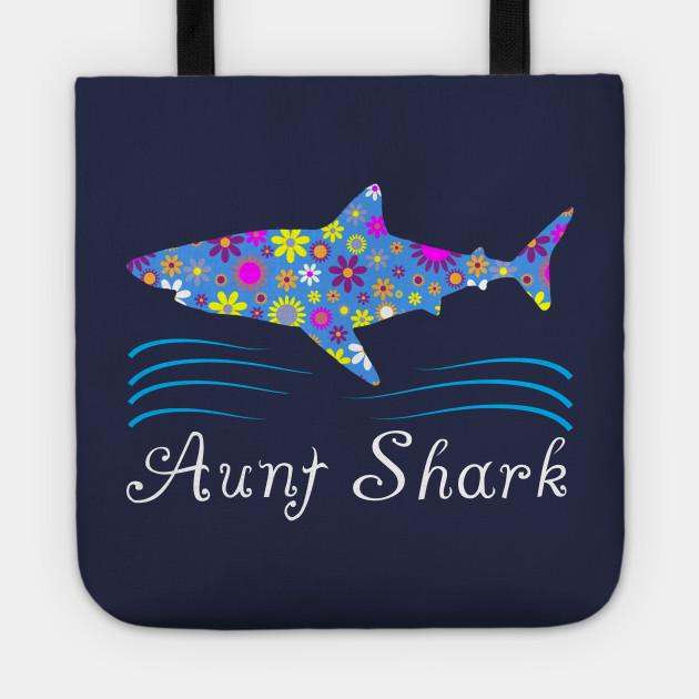 Aunt Shark Floral Design Cute Gift Ideas