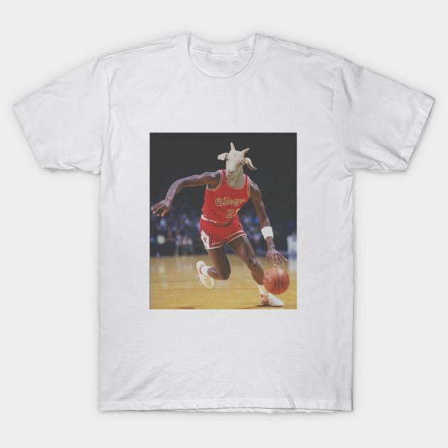 7da22135944 Michael Jordan GOAT - Nba - T-Shirt | TeePublic