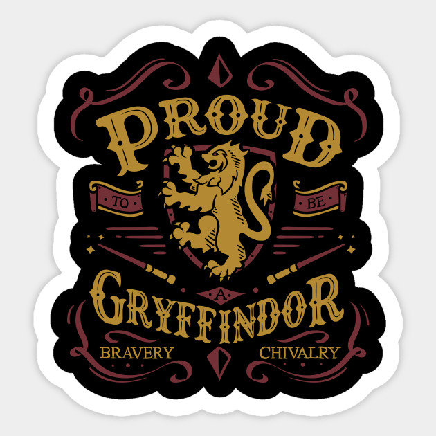 Proud To Be A Gryffindor Harry Potter Sticker Teepublic