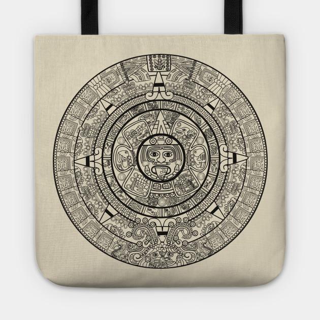 Calendario Azteca.Aztec Calendar Calendario Azteca Black Design