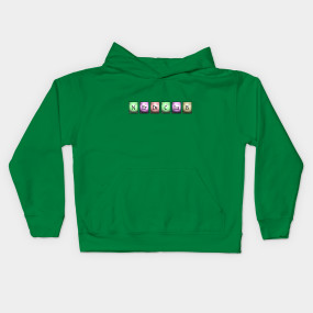nerds club in chemical elements... Kids Hoodie