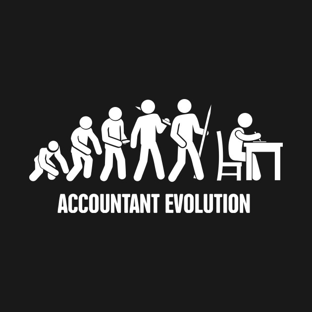 fd6433d9d Accountant Evolution | Funny Accounting Design Accountant Evolution | Funny  Accounting Design