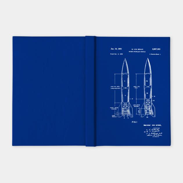 Wernher Von Braun Rocket Propelled Missile Patent Drawing