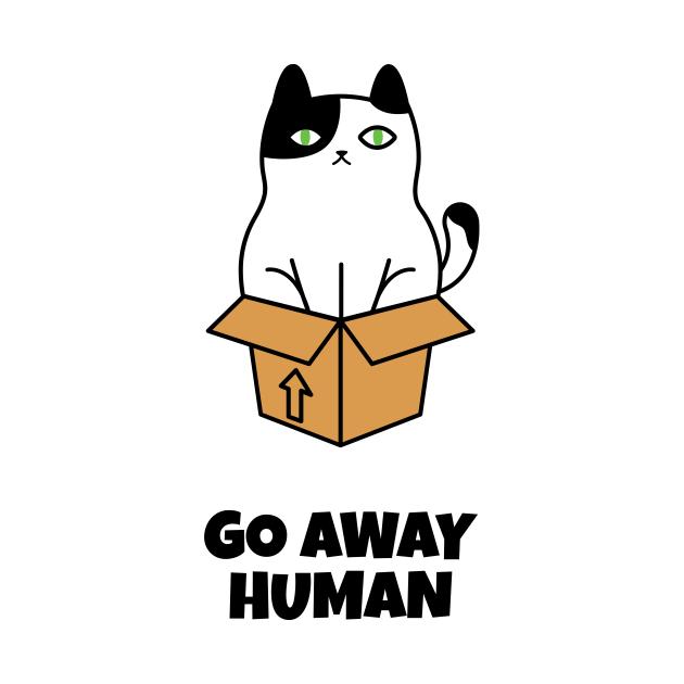 Go Away Human Angry Cat - Cat - Baby Kurzarmbody