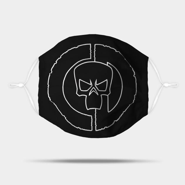Council of Doom CD Skull Logo (White)
