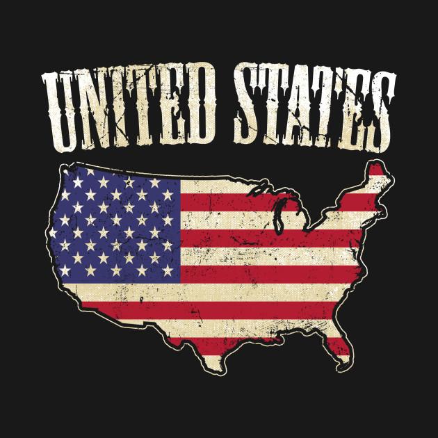 USA Map / Flag - American Flag - T-Shirt | TeePublic