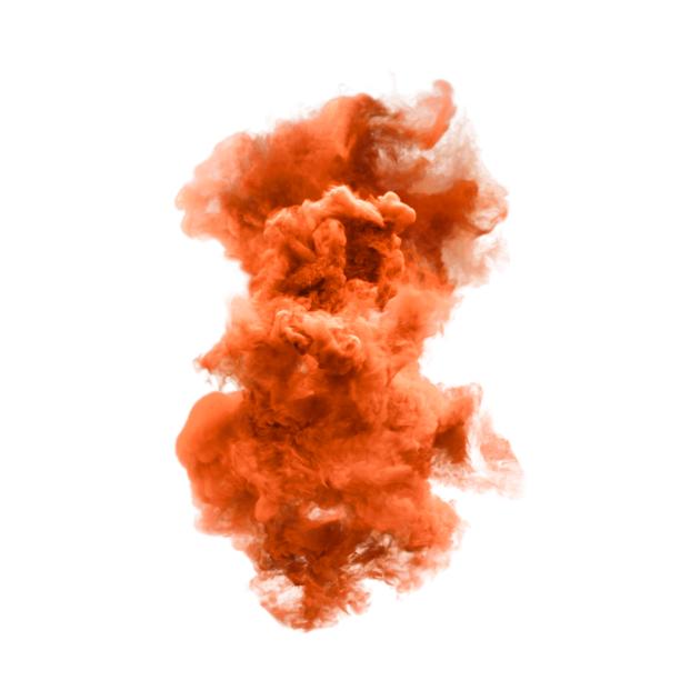 Orange and white cloud