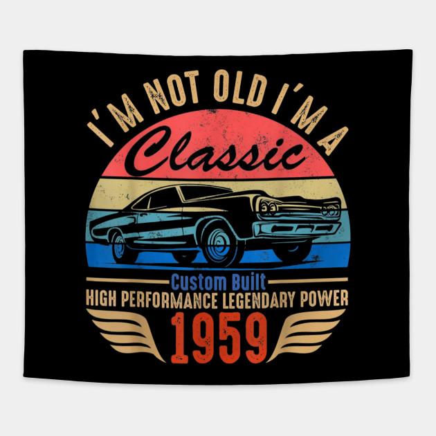 Classic 1959 T Shirt For Men Women 60th Birthday Gift Ideas Tapestry