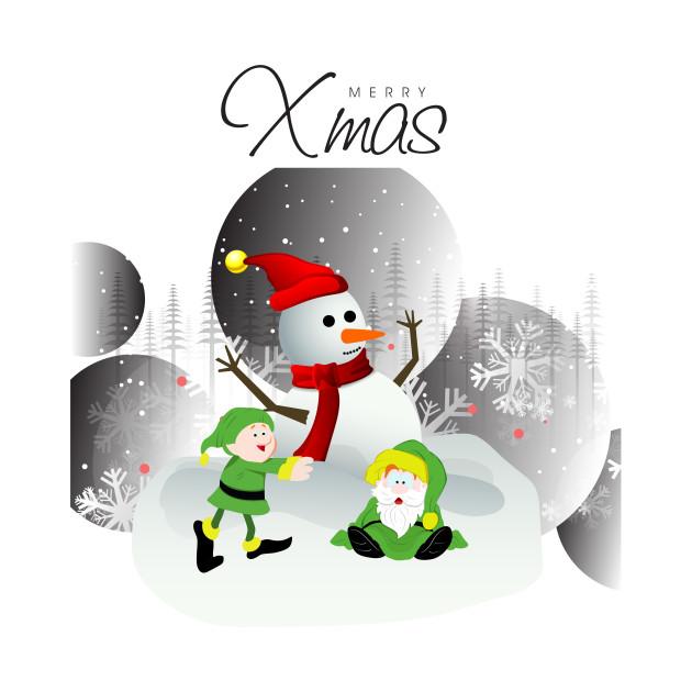 Merry Xmas Snowman