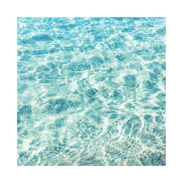 Aqua Blue Ocean Waves