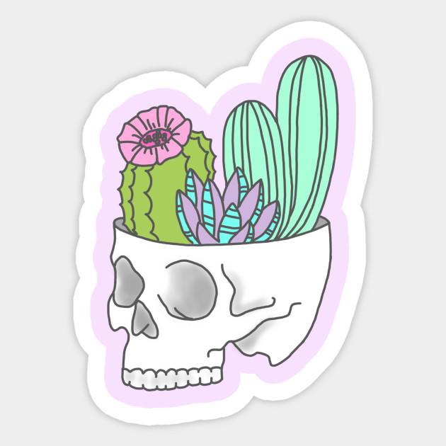 Skull Succulent Feminist Skeleton Cactus Southwest Girly