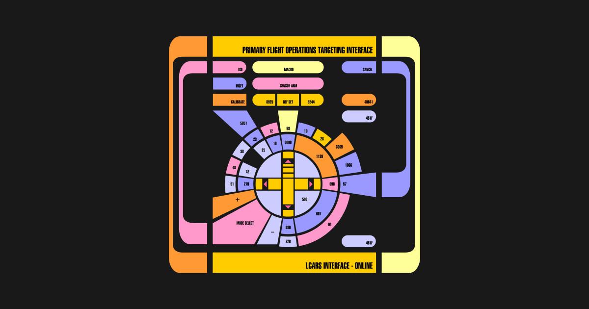 Star Trek LCARS display by hideandgeek