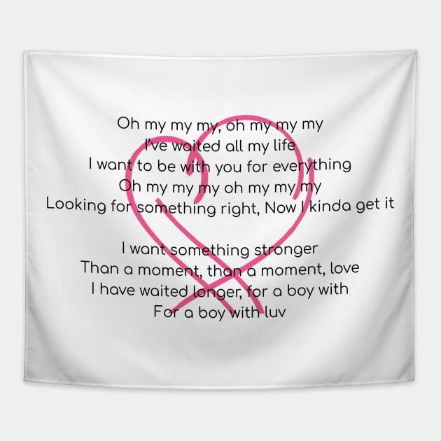 BTS English Lyrics Boy With Luv Map of the Soul